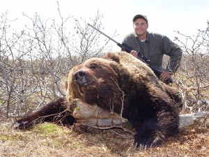 brown bear in Okhotsk with Sergei Shushunov
