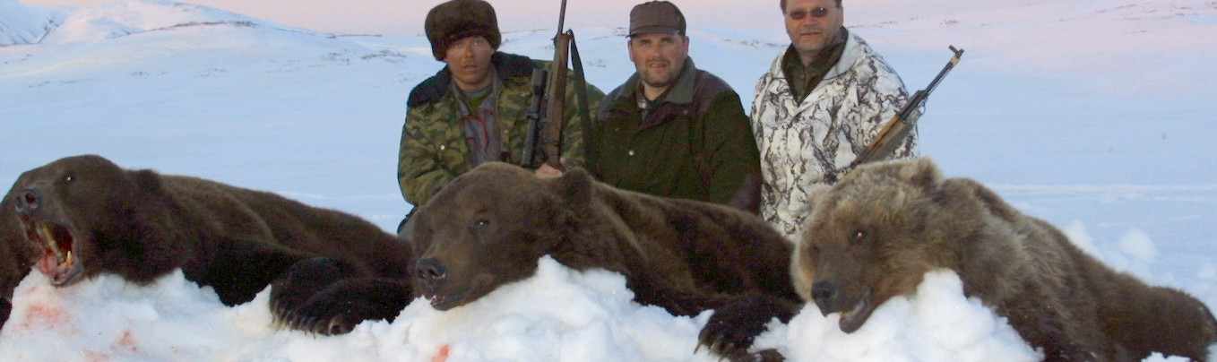 Russian bear hunting with Sergei Shushunov